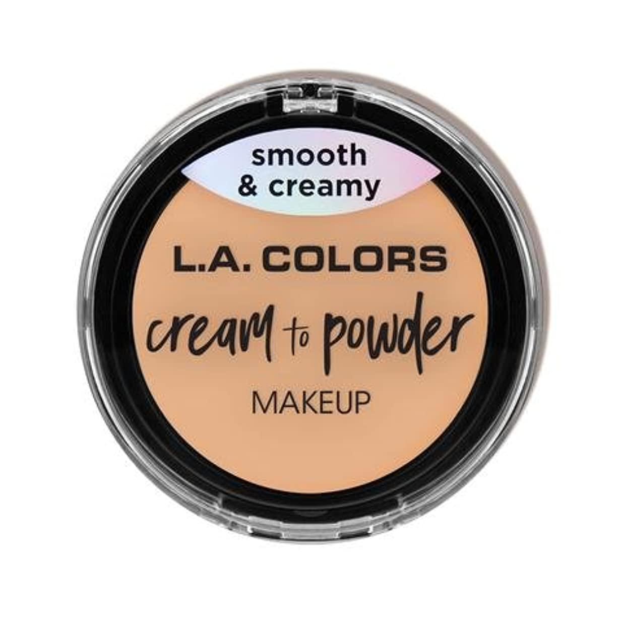 流体作曲家採用する(3 Pack) L.A. COLORS Cream To Powder Foundation - Buff (並行輸入品)