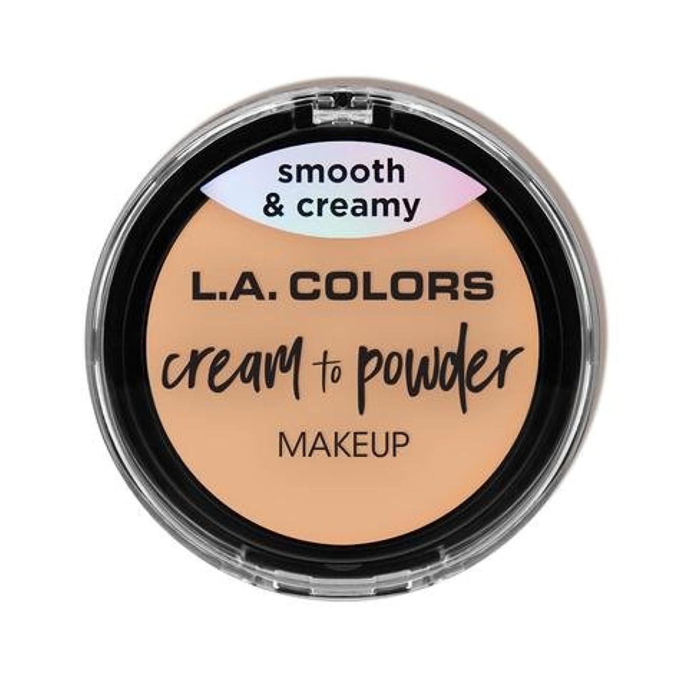海洋ペネロペ千(3 Pack) L.A. COLORS Cream To Powder Foundation - Buff (並行輸入品)