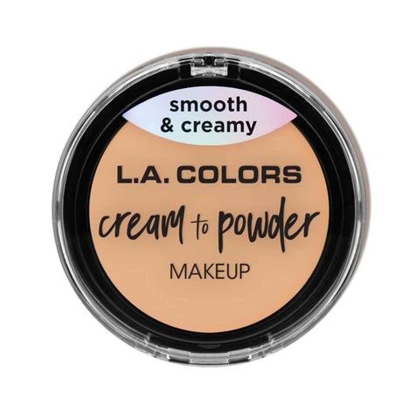 最高感謝祭読者(3 Pack) L.A. COLORS Cream To Powder Foundation - Buff (並行輸入品)