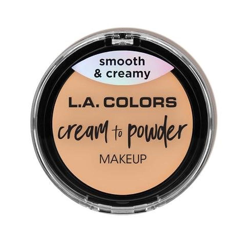 日没捕虜ブルジョン(3 Pack) L.A. COLORS Cream To Powder Foundation - Buff (並行輸入品)