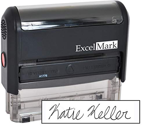Custom Signature Stamp - Self Inking - Black Ink - Medium