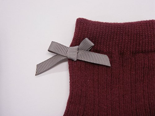 Filloie フィロワ 3足組子供靴下クルー丈 リボン付き 9cm - 14cm スベリ止め付 [0034]