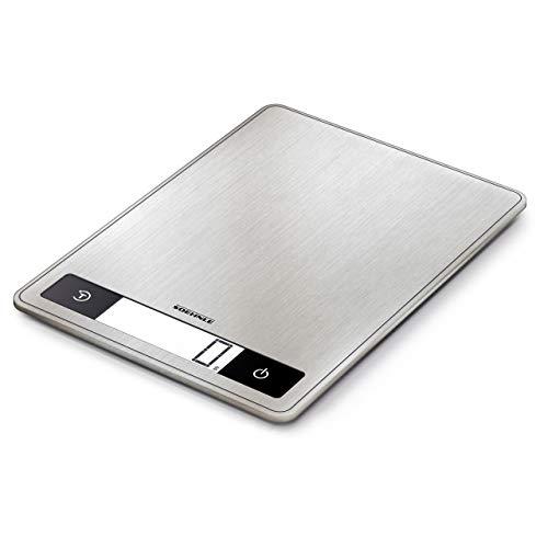 Soehnle Báscula de cocina Page Profi 200, peso digital plateado con función Sensor Touch, balanza electrónica hasta 15 kg (precisión de 1 g)