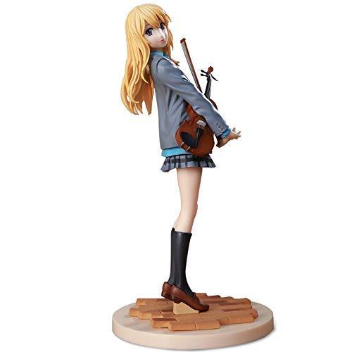 YZHM hmmoz tu Mentira en Abril Figura de Anime Miyazono Kaori Uniforme de violín Figura de acción de PVC Hermosa niña Japón Anime Figura de Anime de estatuilla (Color: Kaori 17cm Sin Caja)