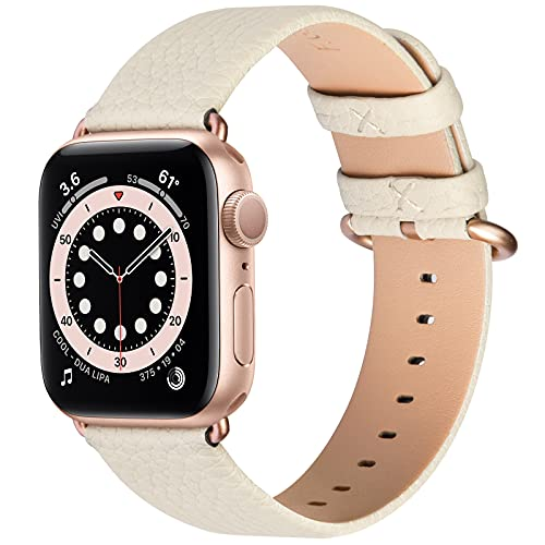 Fullmosa Correa de Reloj para Apple Watch SE Series 6/5/4/3/2/1,Correa de Cuero Compatible con iWatch 44/40/42/38 mm,Repuesto de Correa Reloj para Hombre y Mujer,Pulsera de Reloj para Apple Watch SE/6