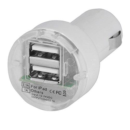 Unirversalle Handy-/Smartphone & MP3 Player USB-KFZ-Ladegerät | USB Zigarettenanzünder Adapter mit 2 USB Büchse