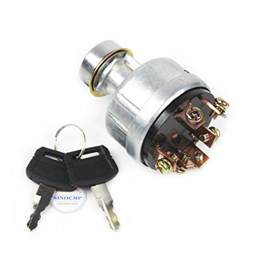 SINOCMP Interruptor de encendido 6 pines con 2 llaves para Hitachi EX200-1 EX200-2 EX200-3 EX200-5 Excavadora Piezas, 3 meses de garantía