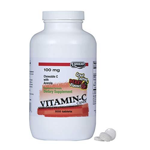 Landau Vitamin C Chewable 100 Mg, Great Tasting, 500 Chewable Tablets