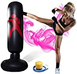 Punching Bags for Adults freestanding and Teens Used to Practice Karate Taekwondo can Stress Relief Punching Bag, Equipped with Air Pumps,Ground Punching Bag 63 inch