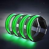 TABIGER LED Armband, 4-Pack Glow Bracelet Safety Light-Up Sports Wristband Ankle Reflective Strips with LED...