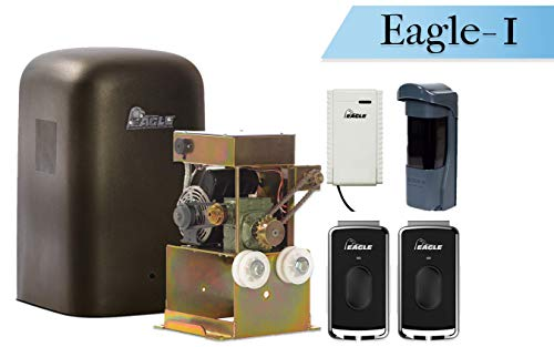 Eagle-I 1/2 HP Slide Gate Operator with Remote and Receiver FSC (Crank-Open)