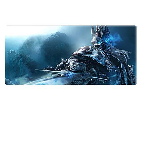 Gaming Mauspad XXL World of Warcraft Mauspad - Erweiterte Oberfläche - Extra Großes Gaming Mauspad - Rutschfeste Gummiunterlage - Hochpräzise Texturierte Oberfläche - 900 X 400 X 4 Mm