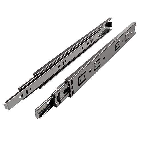 JUNKER 4 Paar Vollauszüge KV1-25-H35-L500-NF 500 mm Schubladenschienen mit Belastbarkeit bis 25 kg