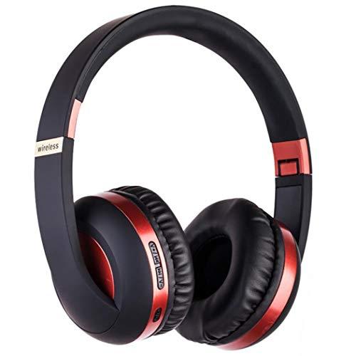 GUIGSI Auriculares Bluetooth Sobre la Oreja, Bluetooth 5.0 Plegable Auriculares inalámbricos con micrófono, estéreo cancelación de Ruido, Compatible con Tarjeta TF, FM