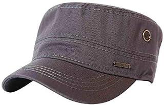 13541f6b CACUSS Men's Caps Army Hat Cotton Classic Military Hats Adjustable Comfy Cadet  Hat Vintage Flat Top