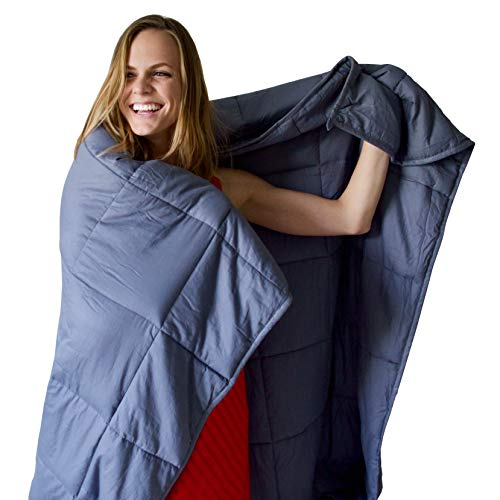 "Weighted Blanket by Heavy Sleeper - For Child and Adults 15 lbs 60"" x 80"" 