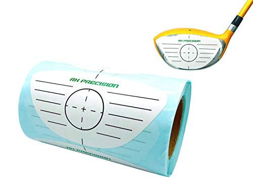 RX PRECISION - Golf Impact Tape - 250 etiketten/label - Driver/HÖLzer/Eisen - voor linkshandigen en rechtshandigen - facetAPE - Sweet Spot analyse - ZWUNGTRAINER