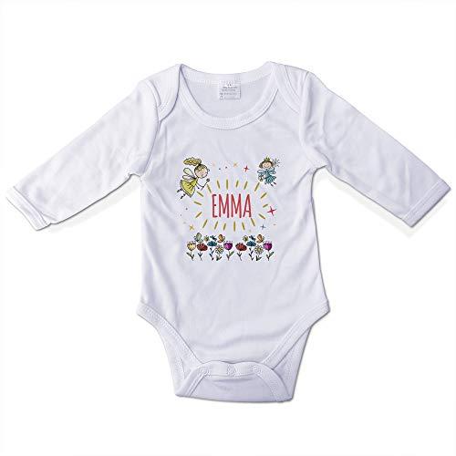 Body Bebé Niña Personalizado con Nombre. Regalos Personalizados para Bebés. Bodies Personalizados Manga Larga. Varias Tallas. Hadas
