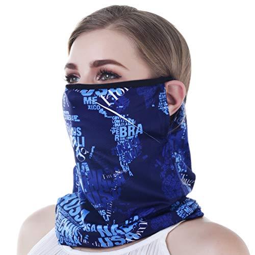 VBIGER Bandana Halstuch kopftuch Multifunktionstuch Schlauchtuch Stirnband Schal mit UV-Schutz und einzigartigem Ohrbügel Bandana Maske für Motorrad & Fahrrad