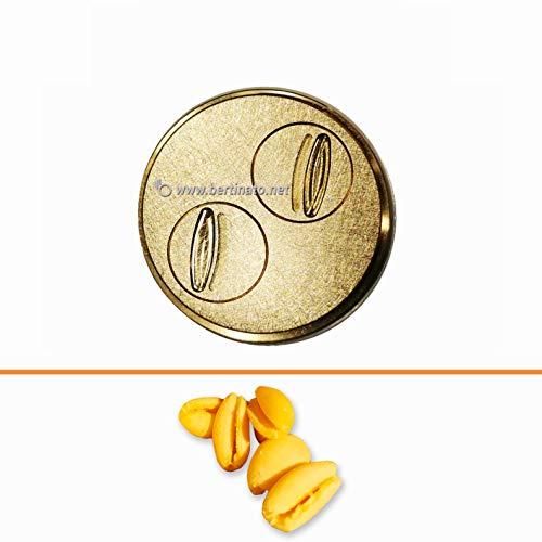 Teigwareneinsatz Cavatelli für professionelle Nudelmaschine La Fattorina 1,5 kg, kompatibel mit FIMAR MPF 1,5 - Matrize aus Bronze