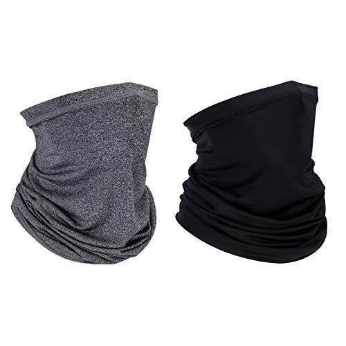 Wmcaps Multifunktionstuch Hals Gamasche Gesichtsschal, UV-Schutz, Cool Lightweight Windproof für Männer Frauen Outdoor Angeln Wandern Radfahren.