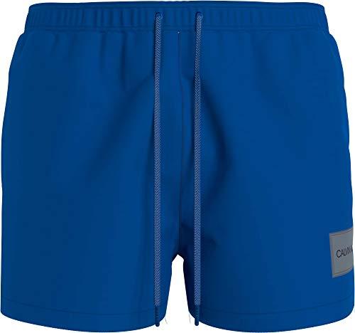 Calvin Klein Short Drawstring Bañador para Hombre, Bobby Blue, M