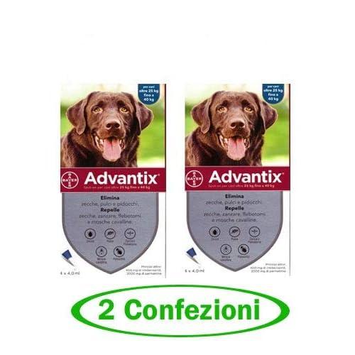 advantix Spot-ON per Cani Oltre 25 kg Fino a 40 kg - Offerta 2 Confezioni