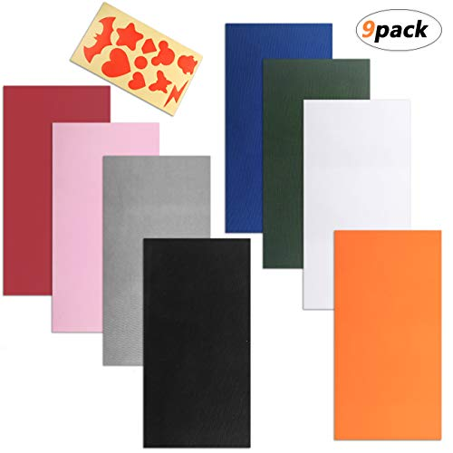 ACKLLR 8 Pieces Self-Adhesive Repair Patches with DIY Model Guide Paper, Waterproof Lightweight Polyester Repair Stickers for Clothing Holes Raincoat Backpacks Tent Sleeping Bag Down Jacket