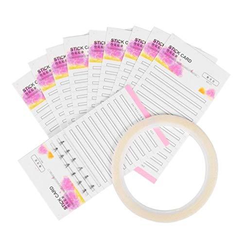 Koojawind Frauen Make-Up WimpernverläNgerung Speicherkarte Fans Volume Lash 2Mm Klebestreifen FüR Shop Vorgefertigte BlüHende Wimpern Falsche Wimpernpapierkarten