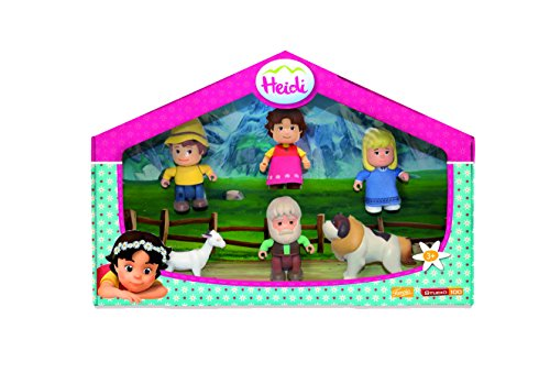 Heidi Pack de figuras y mascotas (Famosa 700012780)