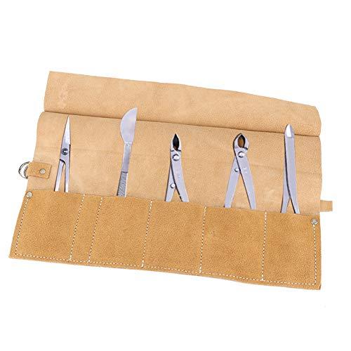 Bolsa de herramientas de reparación de jardín, bolsa de herramientas de cuero de alta calidad, suave y duradera para tus herramientas favoritas (beige)