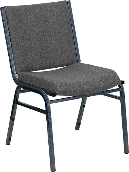 艾玛 · 奥利弗重型灰色织物叠椅