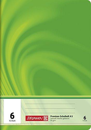 Brunnen 104570602 Schulheft A5 Vivendi (16 Blatt, blanko, mit Linienblatt)