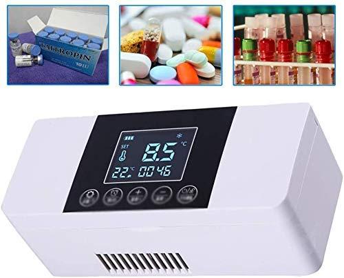 XBR Nueva Caja de refrigeración portátil: Caja refrigerada de Viaje, Enfriador de insulina, refrigerador pequeño, Mini refrigeradores, Caja refrigerada para automóvil, Viajes, hogar, Negro