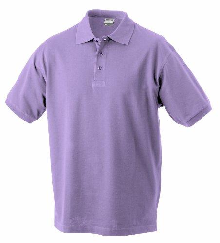 James & Nicholson Herren Classic Polo Poloshirt, Lila, X-Large
