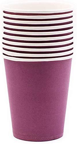 Huangzhiping 10 Stück Party Einweg Becher farbig Pappbecher für Kinder DIY Einweg Badezimmer Becher Espressotassen Pappbecher für Party, Picknick, Reisen 7.5*5.2cm violett