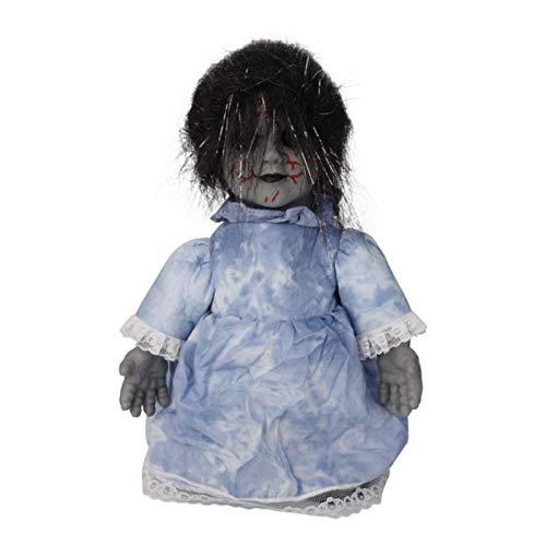 Halloween Ghost Doll Prop, Halloween animierte gruselige Puppen, Halloween Dekorationen Echte Puppe für erwachsene Kinder Sammlungen, Innovative Scary Ghost Doll Dekor Prop für Bars