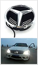 Patricon Xenon White LED Illuminated Logo Car Front Grilled Star Emblem for Mercedes Benz 2013-2018 A//B//C//CLS//E//GLK//GL//R Series Center Front Badge Lamp Light