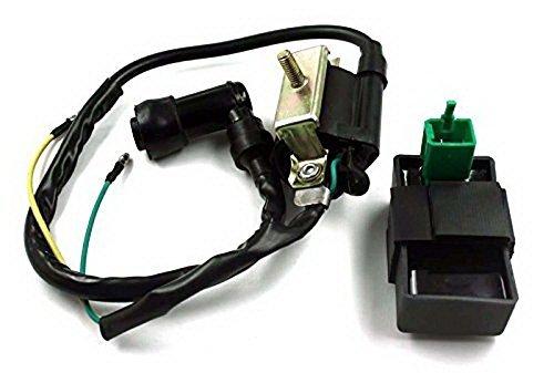 Piezas de encendido CDI caja Bobina Conjunto para adaptador 50cc 90cc 110cc 125cc ATV Dirt Scooter bike Moped Go kart TaoTao Eagle Tank