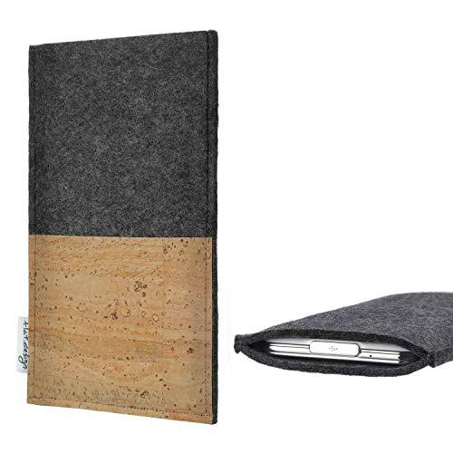 flat.design Handy Tasche Evora kompatibel mit Emporia TOUCHsmart Kartenfach Kork Schutz Hülle passexakt handgefertigt fair