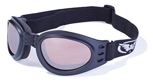 Global Vision Eyewear Adventure Brille mit Schwarz Rahmen und Fahren Spiegel Objektive mit Micro Faser Tasche