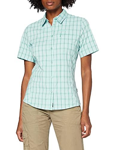 Jack Wolfskin Damen Centaura Shirt Bluse, Aqua, S