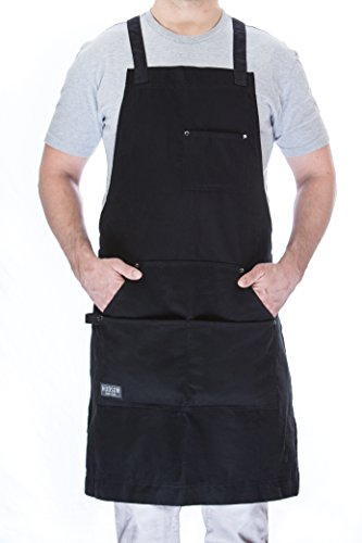Hudson Durable Goods  Professional Grade Chef Apron  Black  100% Cotton