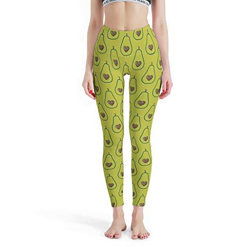 XJJ88 - Pantalones de Pilates para Mujer, diseño de Corazones de Aguacate, Pantalones de Entrenamiento Capri para niñas