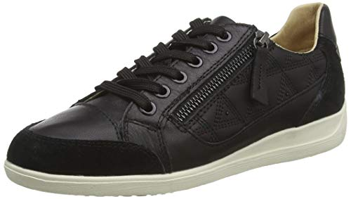 Geox D Myria C, Zapatillas Mujer, Negro (Black C9999), 38 EU