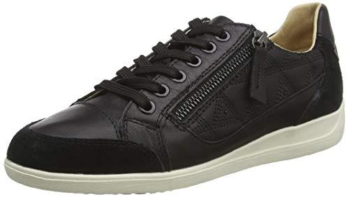 Geox D Myria C, Zapatillas Mujer, Negro (Black C9999), 37 EU