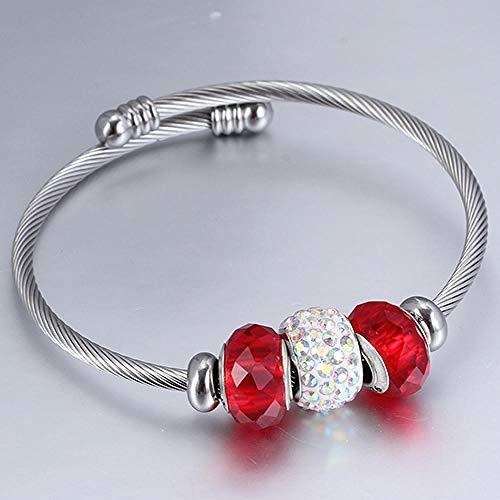 Pulseras Brazalete Joyería Mujer Bead Charm Bracelets Bangles Women Lady Brazalete Ajustable para Regalo De Moda-2