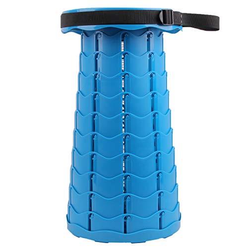 Trafagala Klapphocker Tragbarer Campinghocker Faltbar Hocker Stuhl Mini Leicht Stabil Teleskophocker für Erwachsene und Kinder, Außen- und Innenbereich, Camping(Blau)