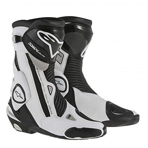 Alpinestars Smx-Plus Motorradstiefel 15, Farbe schwarz-weiss, Größe 46
