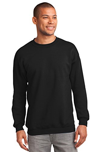 Port & Company Men's Tall Ultimate Crewneck Sweatshirt XLT Jet Black